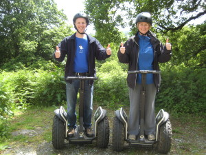 Great fun was had on the Segways!