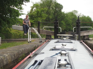 Opening the locks is hard work - with a bit of waiting in between!