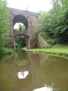 Unusual bridge on the Shroppie