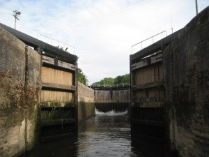 The locks on the Severn are  a bit bigger than the canal ones.