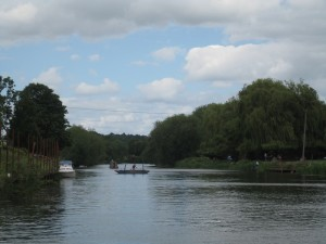 Rope ferry across the Avon
