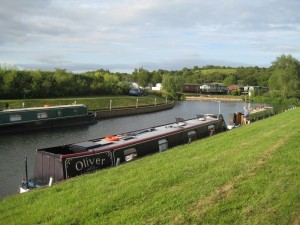 Moored up at George Billington lock with Casual Water
