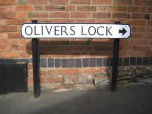 After a tip off from Mum, we couldn't resist tracking down the new development of flats called Oliver's lock