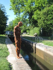 The Gormley statue