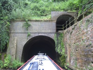 Shrewley tunnel - cool and rather damp inside