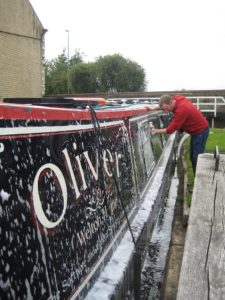 Making the best of it, we cleaned the boat whilst we waited