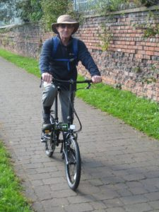 Dad and his Dahon folding bike