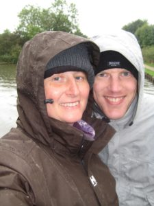 wet selfie - note we had five layers of clothing on by this time!